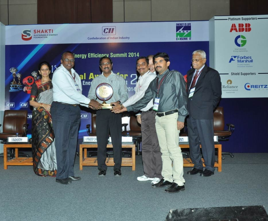 CII National Award for Excellence in Energy Management (2014)